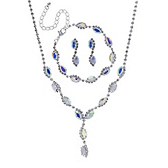 Mood - Aurora borealis navette diamante jewellery set