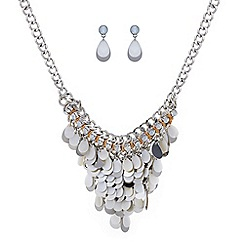 Mood - Shell drop necklace and matching earring set