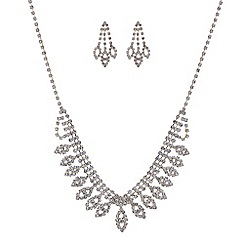 Mood - Diamante crystal statement necklace and earrings set