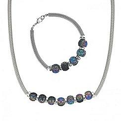 Mood - Multi colour pave bead necklace and bracelet set