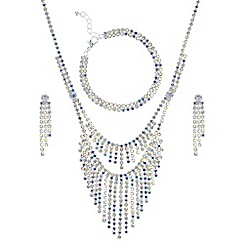 Mood - Aurora borealis crystal diamante shower jewellery set