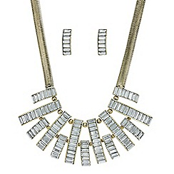 Mood - Crystal bar necklace and earring set