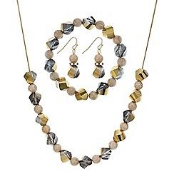 Mood - Hexagon beaded necklace jewellery set