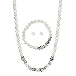 Mood - Pearl and bead matching jewellery set