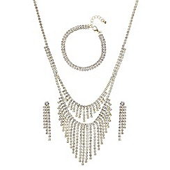 Mood - Gold diamante crystal matching jewellery set
