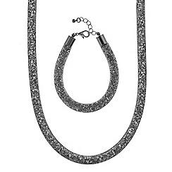 Mood - Crystal mesh tube necklace and bracelet set