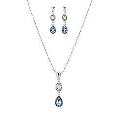 Mood - Blue and silver crystal jewellery set