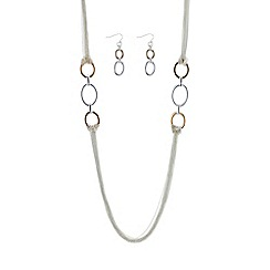 Mood - two tone multi row jewellery set