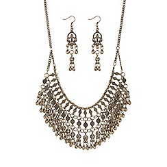 Mood - Gold multi layered chain jewellery set
