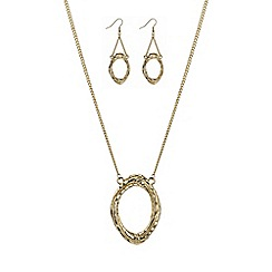 Mood - Gold oval link jewellery set