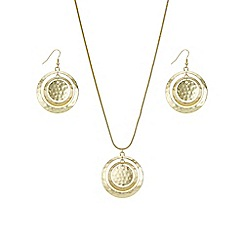 Mood - Gold graduated disc jewellery set