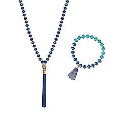 Mood - Tonal blue bead jewellery set