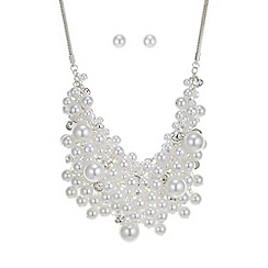 Mood - Pearl and crystal cluster jewellery set