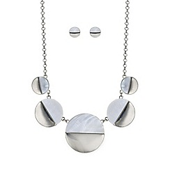Mood - Silver half circle jewellery set