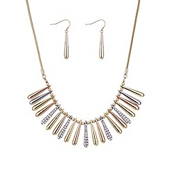 Mood - Multi tone pave stick jewellery set