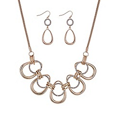 Mood - Rose gold pave loop jewellery set