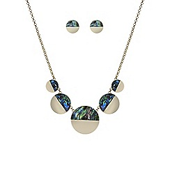 Mood - Abalone inspired half disc jewellery set
