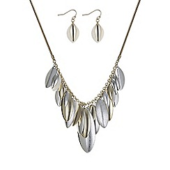 Mood - Multi tone leaf jewellery set