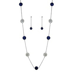 Mood - Blue disc jewellery set