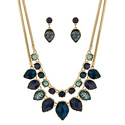 Mood - Multi row necklace and earring set