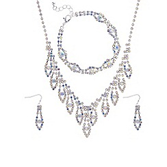 Mood - Silver crystal diamante jewellery set