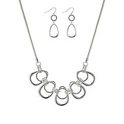 Mood - Silver pave loop jewellery set