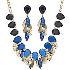Mood - Tonal blue peardrop jewellery set