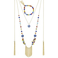 Mood - Multi colour beaded jewellery set