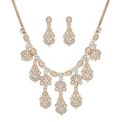 Mood - Tonal pink crystal jewellery set