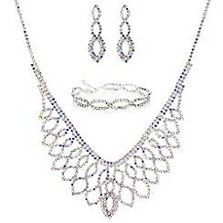 Mood - Aurora borealis diamante jewellery set
