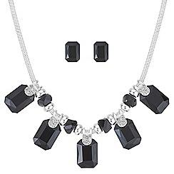 Mood - Jet square crystal jewellery set