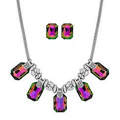 Mood - Crystal square jewellery set