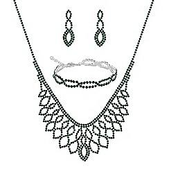 Mood - Green diamante jewellery set