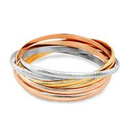 Textured mixed metal bangle pack
