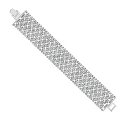 Mood - Mini diamante crystal embellished wide bracelet
