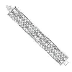 Mood - Mini diamante crystal embellished wide bracelet