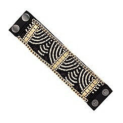 Mood - Gold beaded jet fabric cuff
