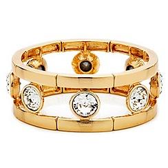 Mood - Large round crystal set stretch bracelet