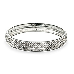 Mood - Crystal embellished silver bangle