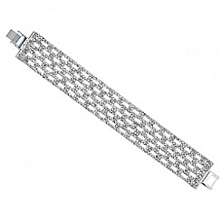 Mood - Diamante crystal wide panel bracelet