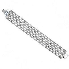 Mood - Diamante crystal wide panel bracelet
