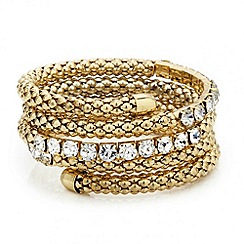 Mood - Crystal encased coil mesh bangle