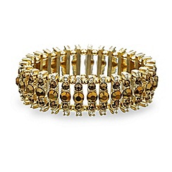 Mood - Triple stone gold bar stretch bracelet