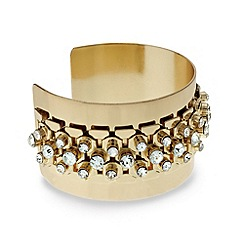 Mood - Crystal embellished wide cuff bangle
