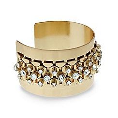 Mood - Crystal embellished wide cuff bangle