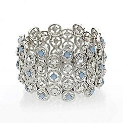 Mood - Opalesque and blue stone stretch bracelet