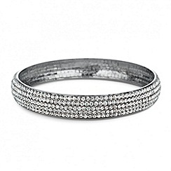 Mood - Crystal embellished silver plated bangle