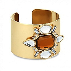 Mood - Statement jewelled stone cuff bracelet