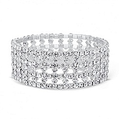 Mood - Diamante crystal criss cross stretch bracelet