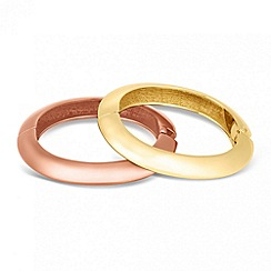Mood - Set of two polished hinged bangles